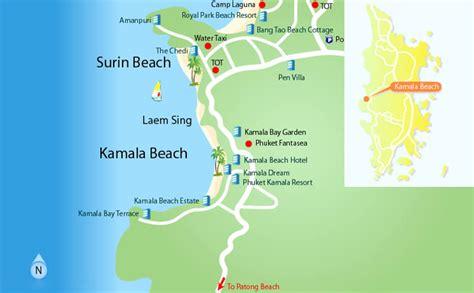 kamala resort map kamala phuket thailand travel information and travel