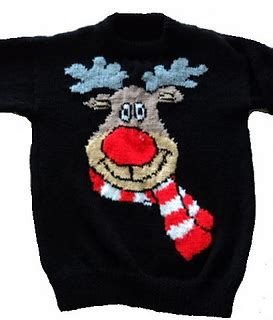 knitting pattern reindeer jumper ravelry christmas rudolph reindeer jumper sweater