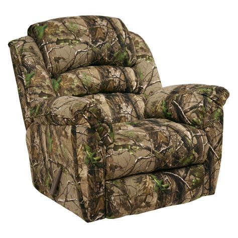 best camo recliner catnapper high roller ap green realtree camouflage chaise