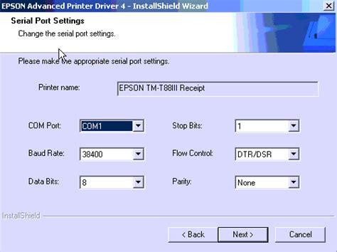 Printer Epson Tm T82 Usb Paralel epson tm t82 printer driver hotlineneon