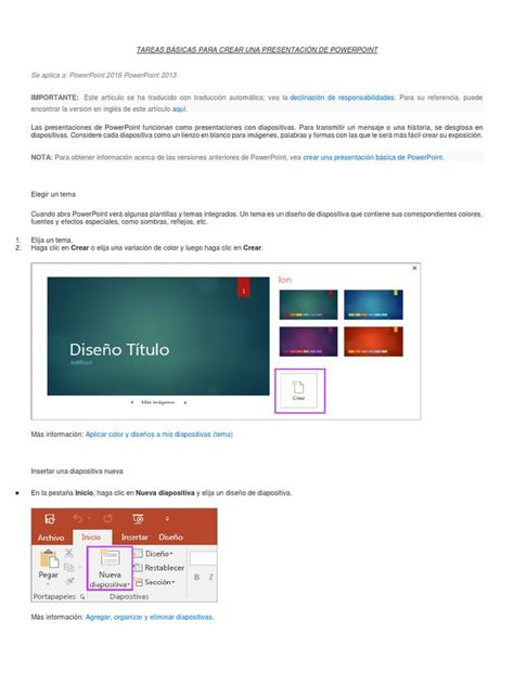 tareas basicas de publisher tareas b 225 sicas para crear una presentaci 243 n de powerpoint