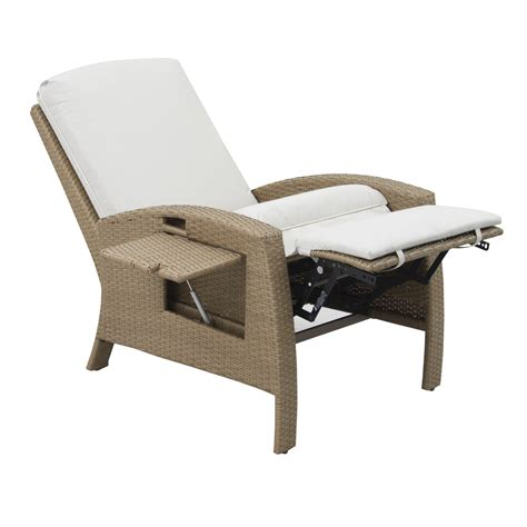 wicker recliner outdoor chair outsunny outdoor rattan wicker adjustable recliner lounge
