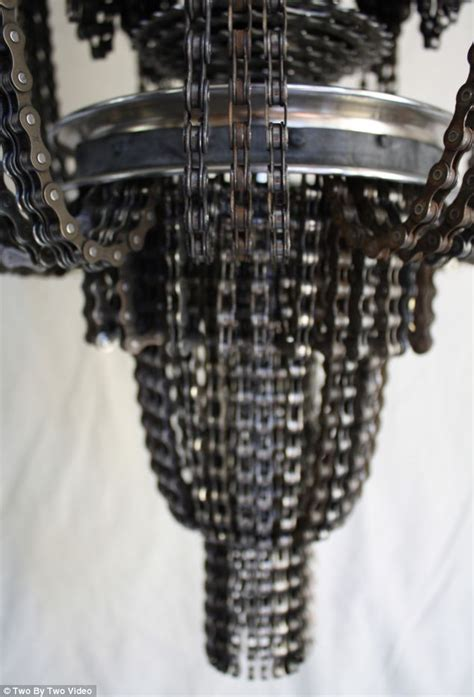Chandelier Motor Now You Can Look Like A Big Wheel 191 With A Chandelier Made From Motor Bike Parts Daily Mail