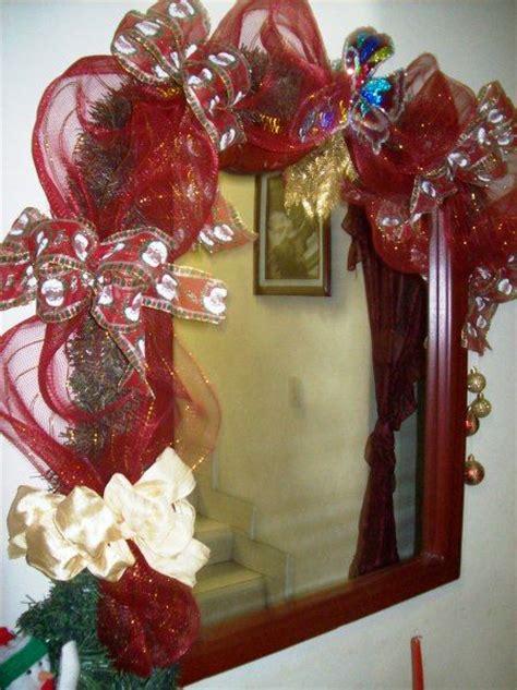 decorar un espejo para navidad 29 best images about espejos decorados on pinterest