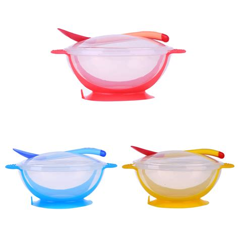Toddler Mealset Suction Bowl Sendok Garpu 3pcs set baby tableware dinnerware suction bowl with temperature sensing spoon baby food baby