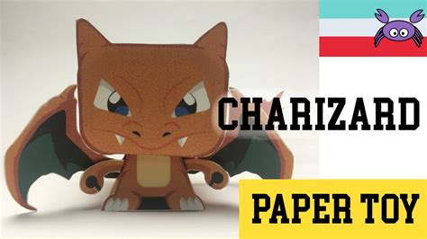 How To Make Paper Toys - how to make a charizard paper papercraft
