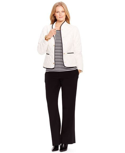 Plus Size Quilted Coat by By Ralph Plus Size Quilted Jacket In White Lyst