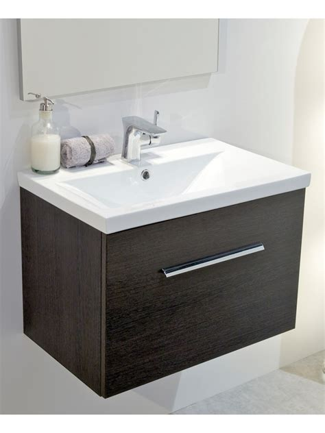 Slimline Wall Hung Vanity Unit by Wood Slimline 50cm Wall Hung Vanity Unit Wall