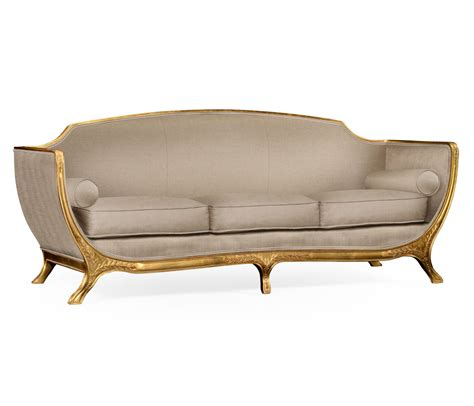 Empire Style Sofa Gold Leaf Com