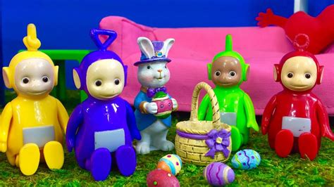 toddlers easter egg hunt teletubbies toys and easter bunny
