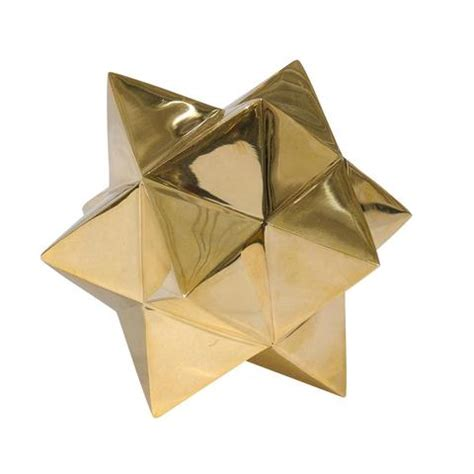 Gold Origami - wearstler gold origami pieces