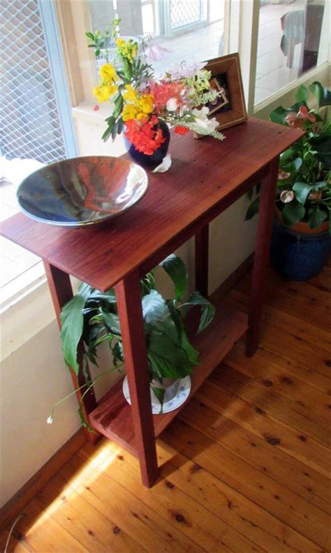 diy pallet  table hall table  pallets