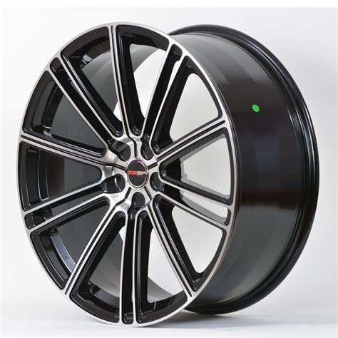 4 gwg wheels 20 inch black machined flow rims fits et38