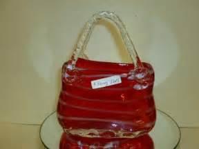 Glass Handbag Vase 1803 Murano Glass Purse Shaped Vase 8 Tall Lot 1803