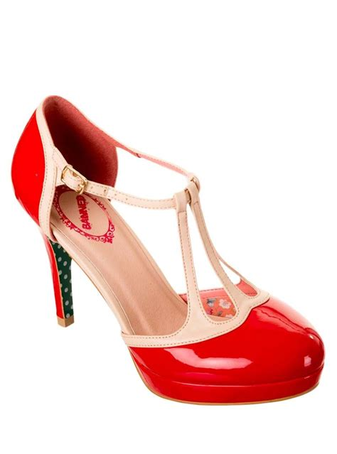 Chausures Annees 50 Chaussures Escarpins 233 Es 50 Pin Up Rockabilly Banned Quot Betty Quot Rockangehell
