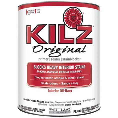 kilz original 1 qt white based interior primer
