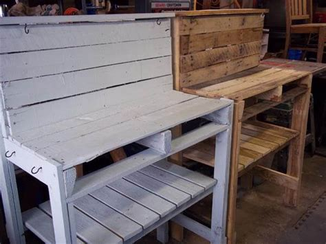 pallet potting bench diy recycled pallet potting bench 101 pallets