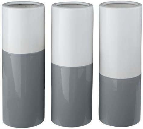 Gray And White Vase Dalal Gray And White Vase Set Of 3 From A2000165