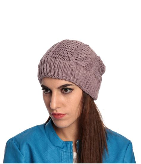 toppers for women snapdeal zanky gray winter woollen cap for women buy online at low