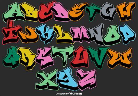 lettere graffiti vector graffiti alphabet letters free vector