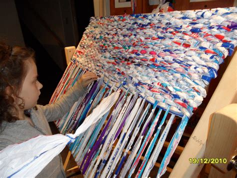 weaving mat put your milk bags to use weaving mats for