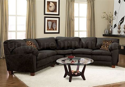 Black Suede Sectional Sofa Black Micro Suede Casual Sectional Sofa W Soft Arm Pillows