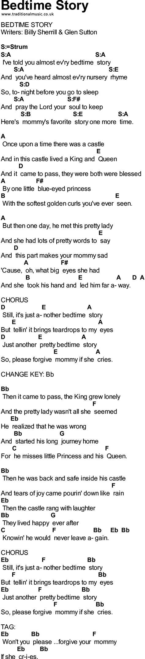 bed time music bedtime story lyrics