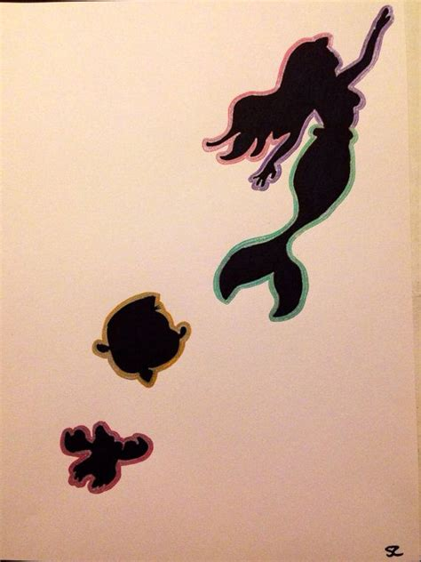 little mermaid silhouette tattoo the mermaid silhouette marker drawing artwork
