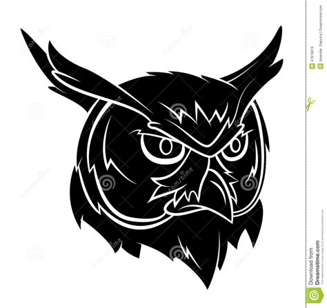 owl head tattoo stock vector image of symbol tattoo