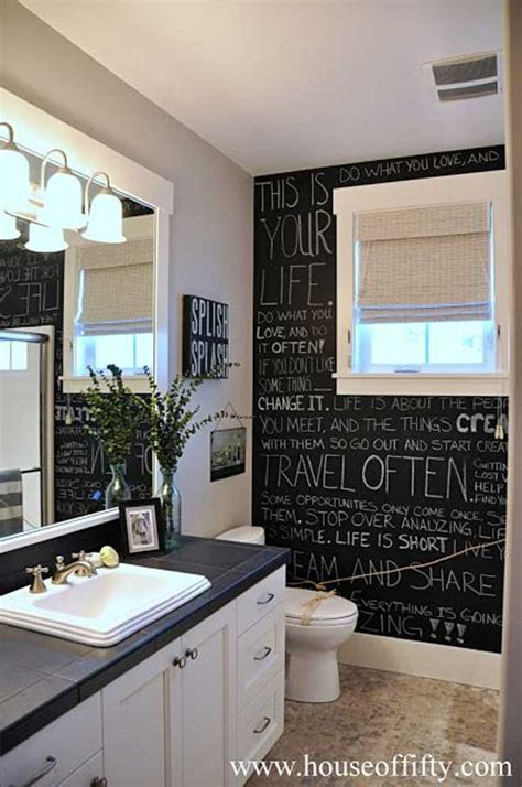 chalkboard paint ideas for bathroom 22 chalkboard paint ideas allow you to personalize wall