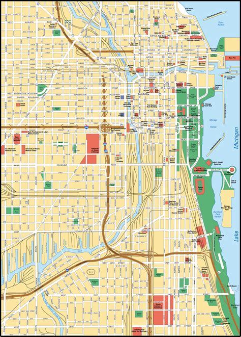 chicago city map map of chicago city maps of united states planetolog