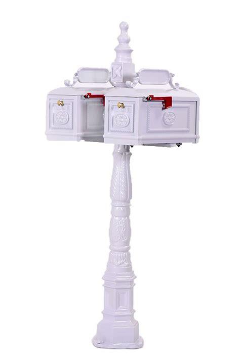 better mailboxes mailbox white decorative cast aluminum multi