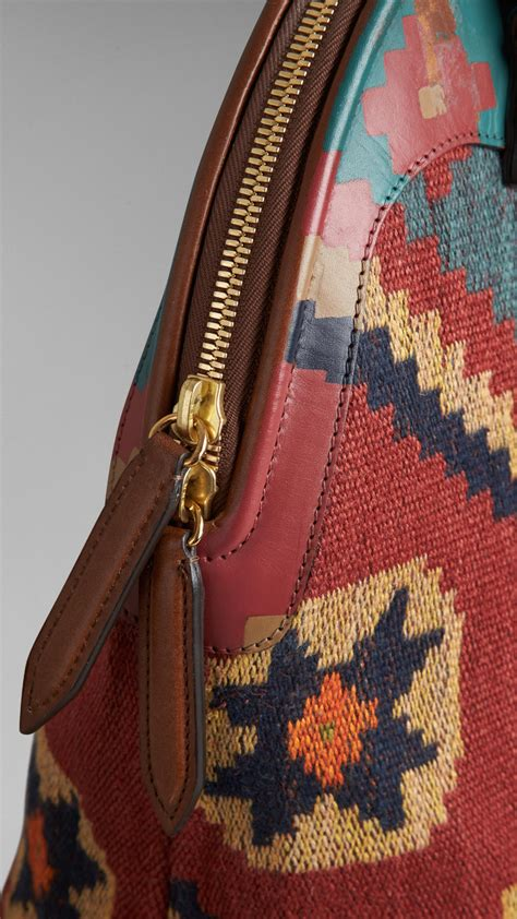 leather and tapestry burberry the bloomsbury in painted leather and
