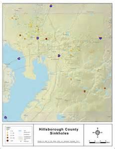 sinkholes in map sinkhole map hillsborough county interactive florida