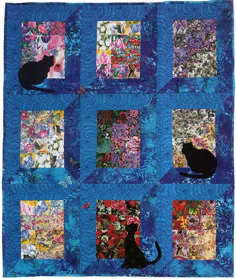 free printable cat quilt patterns quilt inspiration the best of cat quilts part one