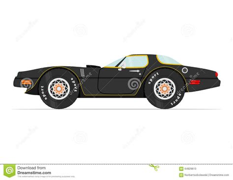 cartoon sports car cartoon car stock vector image 64929613