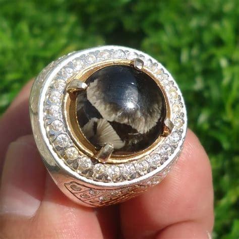 Batu Akik Succubus Jawa 4854 mustika bulu macan asli jawa keris semar mesem
