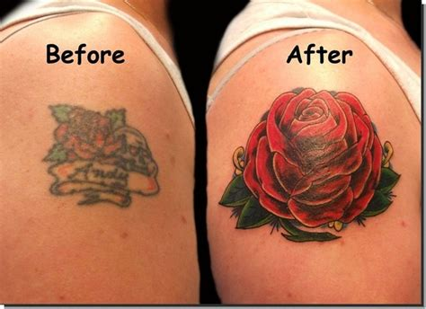 ugly rose tattoo 15 exles of tattoos being made awesome with cover ups
