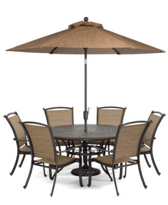Beachmont Outdoor Patio Furniture Beachmont Outdoor 7 Set 60 Quot Dining Table And 6 Dining Chairs Furniture Macy S