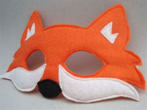 How To Make A Fox Mask Out Of Paper - felt fox mask