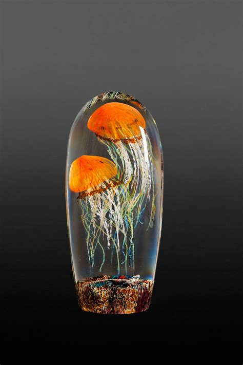 rick satava s luminous glass blown jellyfish appear