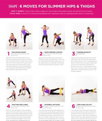 6 lower exercises for slimmer hips and thighs shape magazine