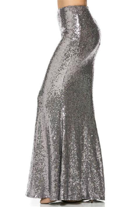 minuet sequin maxi skirt from newport by rochelle s