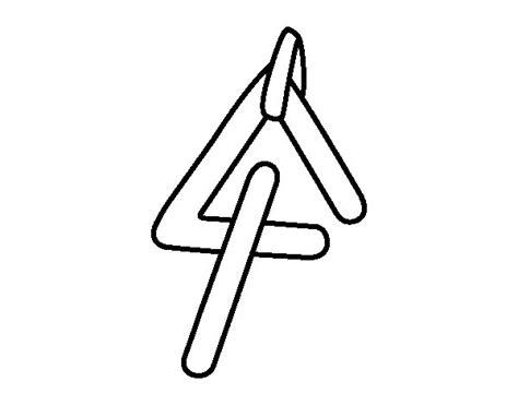 imagenes de instrumentos musicales faciles de dibujar dibujo de instrumento triangulo para colorear dibujos net