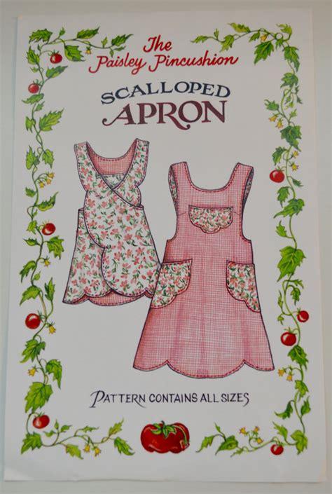 pattern for crossover apron paisley pincushion scalloped apron pattern cross back apron
