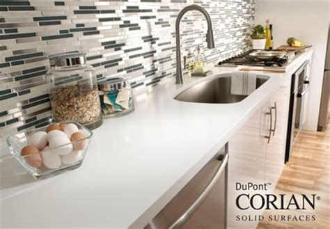 Cleaning Corian Countertops by White Corian Countertop Clean And Bright Just Right For