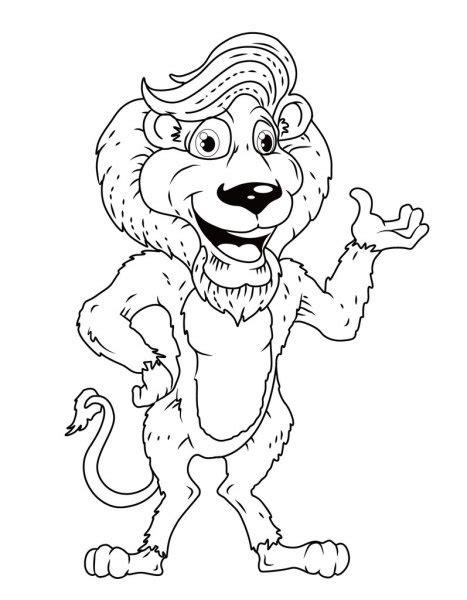 Imágenes: rey leon blanco y negro | Dibujos animados de