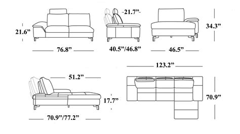 sectional sofa dimensions standard best sofas decoration
