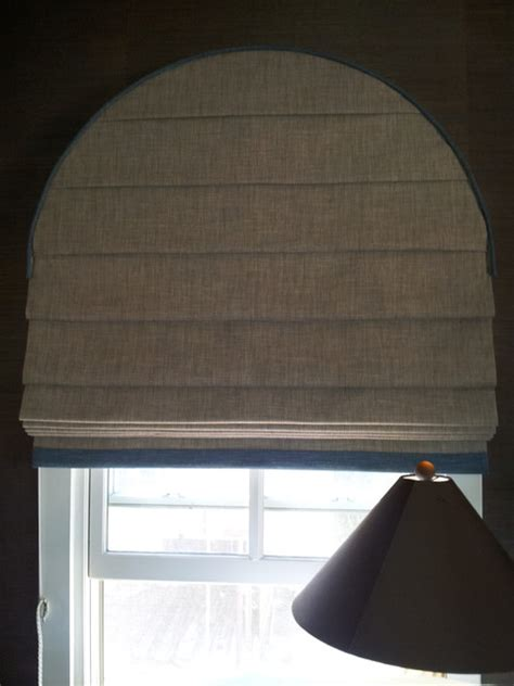 Fan Shades For Arched Windows Designs Arched Window Shade Contemporary Living Room Los Angeles By P D Window Fashions
