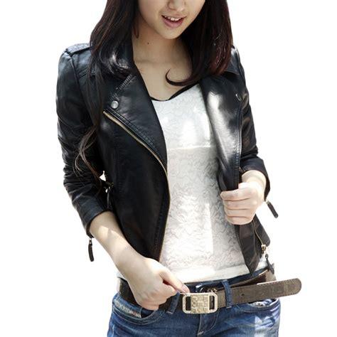 Leather Jacket Black Korean 2017 autumn black slim korean style pu leather